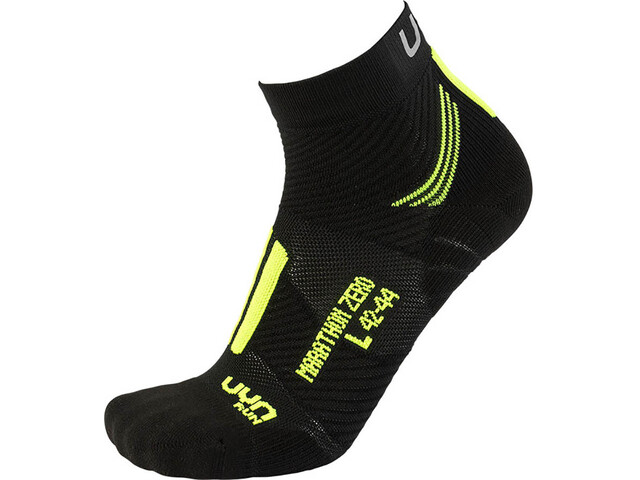 UYN Run Marathon Zero Socks Herren black/yellow fluo